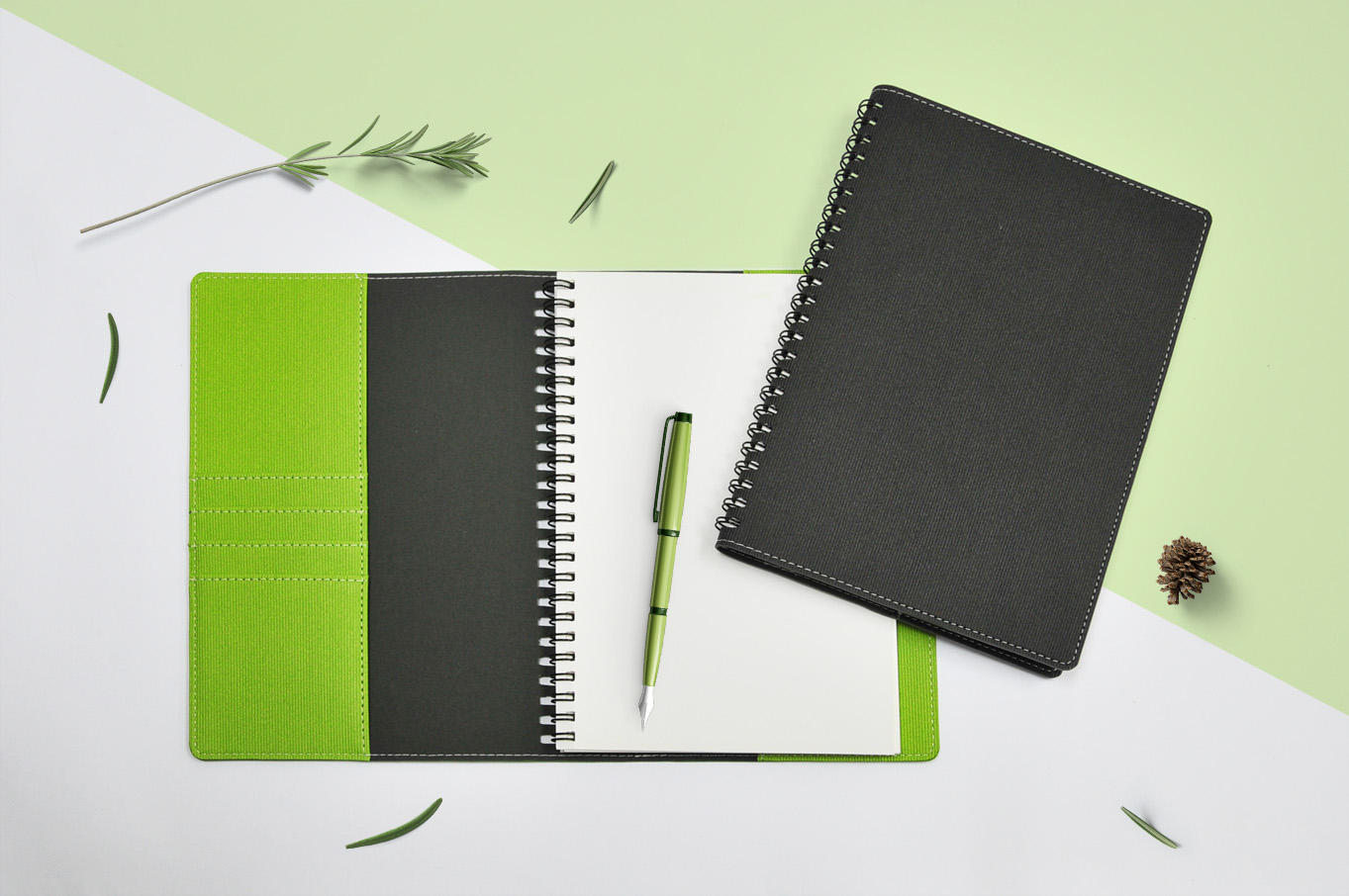 PU Jacket Wired Notebook